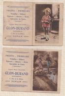 9AL1730 Lot De 2 Petits Calendriers 1930 PUB GLON DURAND DINAN  2 SCANS - Klein Formaat: 1921-40