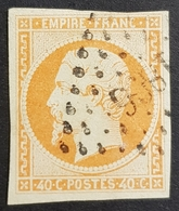 1853 - 1861, Emperor Napoléon Lll, 40c, Orange, France, Empire Française - 1853-1860 Napoleon III