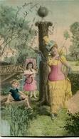 """""""I"""" LETRA LETTRE LETTER MUJER NIÑOS WOMEN CHILDREN FEMMES ENFANTS. POSTAL POSTALE CPA CIRCULE 1904 -LILHU - Nombres"""