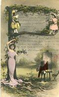"""P"" LETRA LETTRE LETTER MUJER NIÑOS WOMEN CHILDREN FEMMES ENFANTS. POSTAL POSTALE CPA CIRCULE 1904 -LILHU - Nombres"