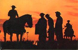 GAUCHOS, ATARDECER. PANAGRAM JET SKY CARD. ARGENTINA POSTAL POSTALE CPA NON CIRCA 1980's CIRCULE -LILHU - Argentina