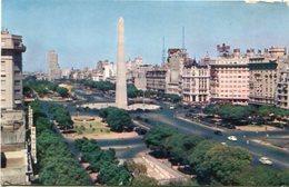 OBELISCO AVENIDA 9 DE JULIO, AVENUE. PAN AMERICA ARGENTINA POSTAL POSTALE CPA CIRCA 1980's NON CIRCULE -LILHU - Argentina