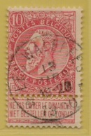 +MW-3999     *  LES WALEFFES  *   OCB 58   Sterstempel     COBA   +30 - 1893-1900 Schmaler Bart