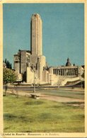 CIUDAD DE ROSARIO: MONUMENTO A LA BANDERA. ARGENTINA POSTAL POSTALE CPA ESCRITA 1958 -LILHU - Argentina