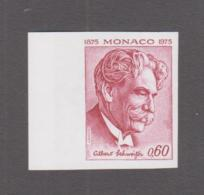 MEDICINE  - MONACO - 1975 - ALBERT SCHWEITZER 0.60FR IMPERF PROOF IN UNISUED COLOURS MNH - Medicine