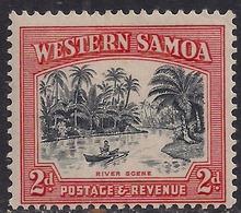 Western Samoa 1935 KGV1 2d River Scene  Umm SG 182aw ( T617 ) - Samoa