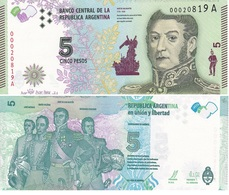 Argentina - 5 Pesos 2015 UNC Lemberg-Zp - Argentina