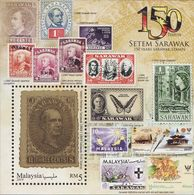 Malaysia 2019-7 Sarawak Stamps M/S MNH Butterfly Orchid Upu Unusual (gold Ink Printing) Stamp On Stamp - Malaysia (1964-...)