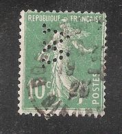 Perforé/perfin/lochung France No 159 W Worms Et Cie (2) - Perforés