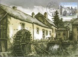 16.10.1997  -  Moulin De Kalborn   Gravure De Pierre Schopfer D'après Un Dessin De Jean-Pierre Gleis - Cartes Maximum