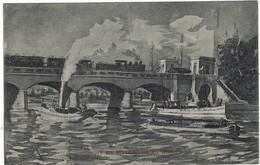 CPA - Liege- Maasbrücke  - Von Der Maas Bis An Die Memel - Tram  - Allemande Feldpost  1915 - Zonder Classificatie