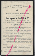 En 1913 Hondschoote (59) Jacques LABYT Ep Rosalie COULIER 90 Ans - Décès