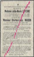 En 1935 Neuf Berquin, Bailleul, Outtersteene (59) Julie LEFEVBRE Et Charles MASSIN En L'état - Décès