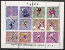 Zaire - 1996 - N°Yv. 1491 à 1502 - Nagano / Olympics - Neuf Luxe ** / MNH / Postfrisch - 1990-96: Ungebraucht