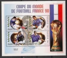 Zaire - 1997 - N°Yv. 1483 à 1486 - Football World Cup France - Neuf Luxe ** / MNH / Postfrisch - 1990-96: Ungebraucht
