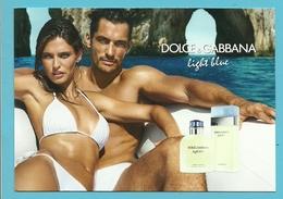 DOLCE & GABBANA Light Blue  (Format Carte-postale) - Cartes Parfumées