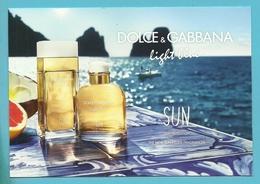 DOLCE & GABBANA Light Blue SUN (Format Carte-postale) - Cartes Parfumées