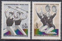 Österreich 1965 Nr.1190 - 1191 ** Postfr. Gymnaestrada, Wien ( 8756) Günstige Versandkosten - 1961-70 Ungebraucht