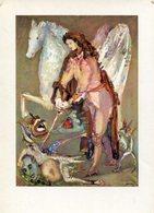 SAN MIGUEL ARCANGEL OBRA DE RAUL SOLDI LALCEC POSTAL PUBLICIDAD ARGENTINA CIRCA 2000's NON CIRCULE -LILHU - Pintura & Cuadros