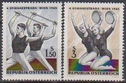Österreich 1965 Nr.1190 - 1191 ** Postfr. Gymnaestrada, Wien ( 8757) Günstige Versandkosten - 1961-70 Ungebraucht
