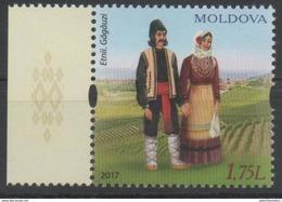 MOLDOVA, 2017, MNH, COSTUMES, 1v - Costumes