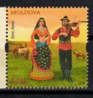 MOLDOVA , 2018, MNH, GYPSIES, MUSIC, COSTUMES, HORSES,1v - Costumes