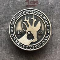 Badge Pin ZN008600 - Hunting Croatia Serbia Srpska Krajina Baranja Lovacko Drustvo Srndac Knezevi Vinogradi - Badges