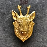 Badge Pin ZN008601 - Hunting Yugoslavia Croatia Baranja Lovacko Drustvo Srndac Knezevi Vinogradi - Badges