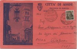 Tematica Comuni D'Italia: Michelangiolesca £. 50 Su Busta Città Di Assisi (Perugia) Del 20.02.1968 - 6. 1946-.. Repubblica