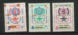 Saudi Arabia - 3194/ N° 127/129 OVERPRINT Air Mail MALARIA ** MNH - Manama