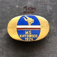 Badge Pin ZN008608 - Wrestling FILA World Championships Poland Katowice 1974 - Worstelen