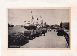 1955 NECOCHEA. PUERTO HARBOUR- LAMINA REPRODUCTION SIZE 17x12CM- BLEUP - Lugares