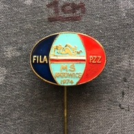 Badge Pin ZN008609 - Wrestling FILA World Championships Poland Katowice 1974 - Lucha