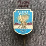 Badge Pin ZN008614 - Wrestling European Championships Turkey Istanbul 1949 - Lucha