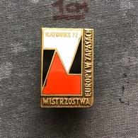 Badge Pin ZN008618 - Wrestling European Championships Poland Katowice 1972 - Wrestling
