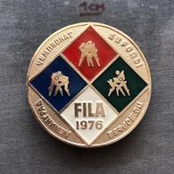 Badge Pin ZN008622 - Wrestling FILA European Championships Soviet Union USSR CCCP Russia Leningrad Sankt-Peterburg 1976 - Wrestling