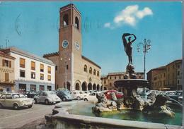 Fano - Piazza XX Settembre - Fontana Della Fortuna - Auto D'epoca - H5371 - Fano