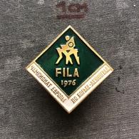 Badge Pin ZN008625 - Wrestling FILA European Championships Soviet Union USSR CCCP Russia Leningrad Sankt-Peterburg 1976 - Worstelen