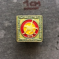 Badge Pin ZN008626 - Wrestling European Championships Bulgaria Sofia (Sofija) 1978 - Wrestling