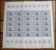 327 France - N°1618 Roi (king) Henri IV Feuille Complète (full Sheet) Pliée - Feuilles Complètes