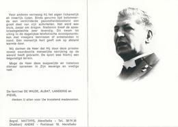 Doodsprentje Van Paul Marcel DE WILDE- Pastoor Te LEMBERGE- ° MERELBEKE 1922- *GENT- 1983 - Religion & Esotérisme