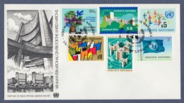 UNO Wien-UN Vienna FDC 1979 - MiNr. 1-6 - Freimarken Des Jahres 1979 (1) - FDC