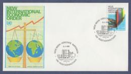 UNO Wien-UN Vienna FDC 1980 - MiNr. 7 - Neue Internationale Wirtschaftsordnung (1) - FDC