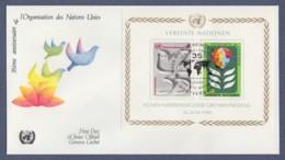 UNO Wien-UN Vienna FDC 1980 - MiNr. Block 1 - 35 Jahre Vereinte Nationen - FDC