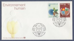 UNO Wien-UN Vienna FDC 1982 - MiNr. 24-25 - Konferenz Der Vereinten Nationen über Umweltschutz - FDC