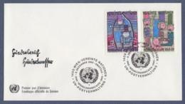 UNO Wien-UN Vienna FDC 1983 - MiNr. 36-37 - 35. Jahrestag Der Allgemeinen Erklärung Der Menschenrechte - FDC