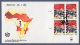UNO Wien-UN Vienna FDC 1986 - MiNr. 55 - 4er Block - Afrika In Not - FDC