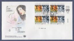 UNO Wien-UN Vienna FDC 1987 - MiNr. 71 - 4er Block - Kampf Gegen Den Drogenmissbrauch - FDC