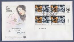 UNO Wien-UN Vienna FDC 1987 - MiNr. 72 - 4er Block - Kampf Gegen Den Drogenmissbrauch - FDC