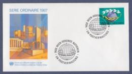 UNO Wien-UN Vienna FDC 1987 - MiNr. 74 - Weltkugel - FDC